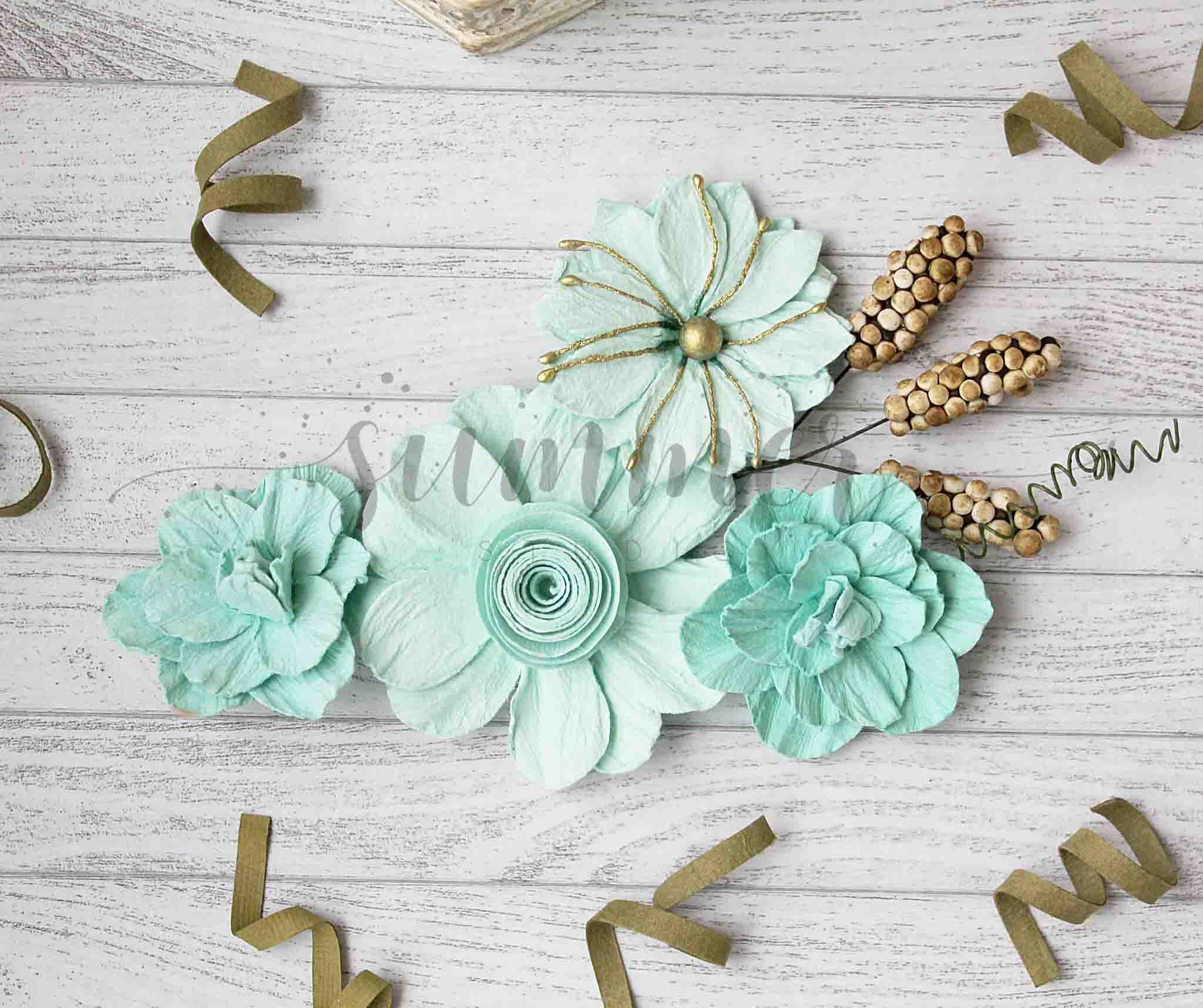 Угловые цветы для открыток