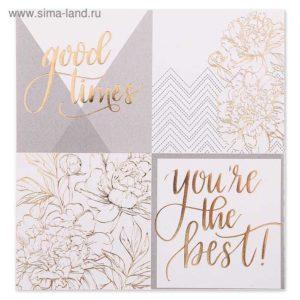 бумага с золотым фольгированием Gold flowers