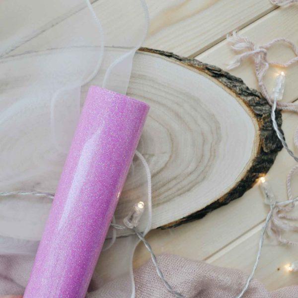 Термотрансферная пленка Розовая с блестками