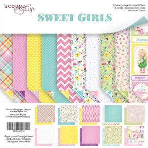 Набор двусторонней бумаги 20х20см от Scrapmir Sweet Girls