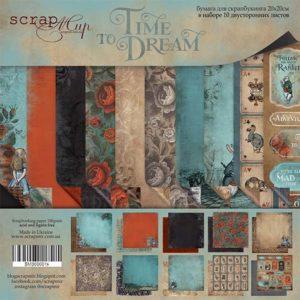 Набор двусторонней бумаги 20х20см от Scrapmir Time to Dream (eng.)