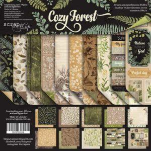 Набор двусторонней бумаги 20х20см от Scrapmir Cozy Forest