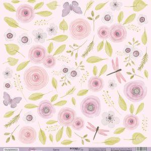Лист Цветы 30x30 от Scrapmir из коллекции Daddy's Princess