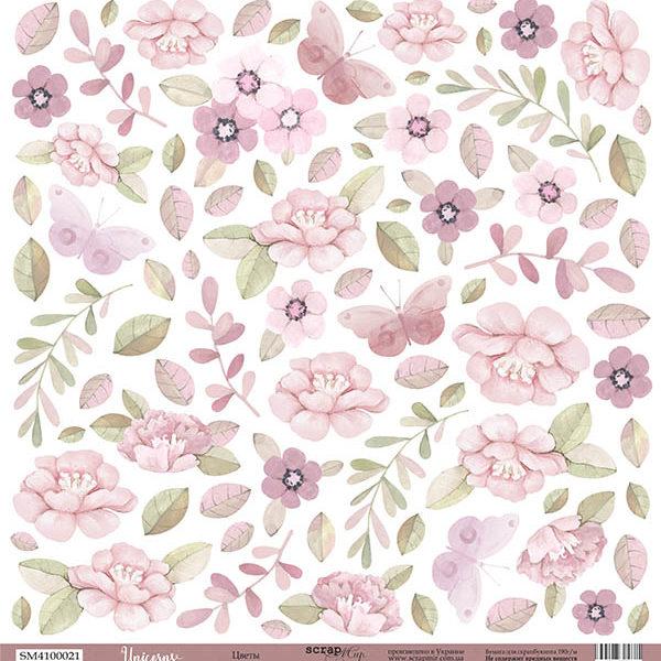 Лист Цветы 30x30 от Scrapmir из коллекции Unicorns