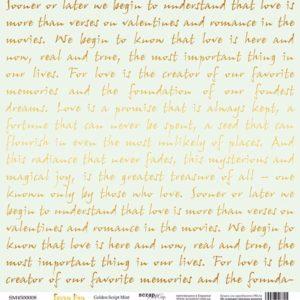 Лист с золотым тиснением Golden Script Mint от Scrapmir Every Day Gold
