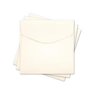"""ОКО4102 Конверт для откр 10х10 см КОМПЛ. 3шт. Цв. слон.кость Факт """"Лён"""""""