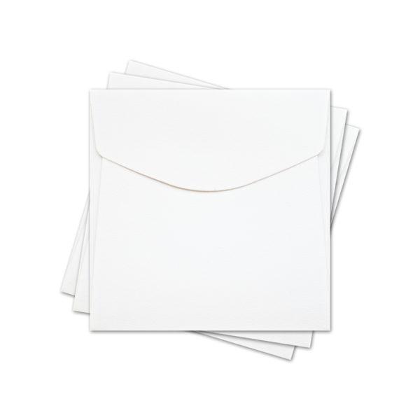 "ОКО4201 Конверт для откр 10х10 см КОМПЛ. 3шт. Цв. белый Факт ""Скорлупа"""