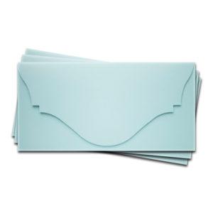 ОК4003 Основа для подарочного конверта №4 комплект 3шт. Цвет светло-голубой матовый
