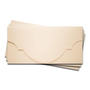"""ОК5102 Основа для подарочного конверта №5 комплект 3шт. Цвет Слон.Кость Фактура """"Лён"""""""