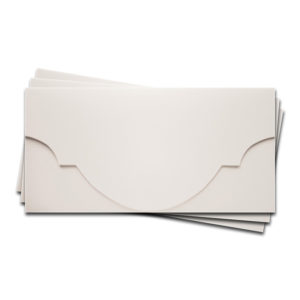 """ОК5301 Основа для подарочного конверта №5 комплект 3шт. Цвет белый Фактура """"Яичная скорлупа"""""""