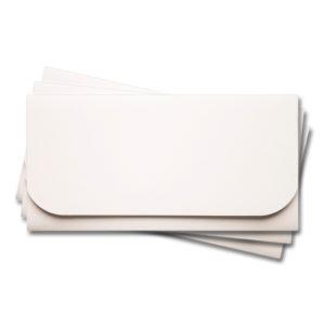 ОК6001 Основа для подарочного конверта №6 комплект 3шт. Цвет белый матовый