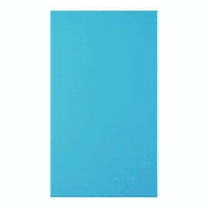 Открытка двойная ярко-голубая матовая 9,6х16,2