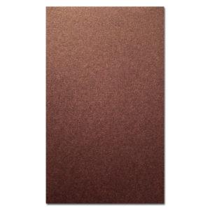 О21016 Открытка двойная коричневая перламутровая 9,6х16,2