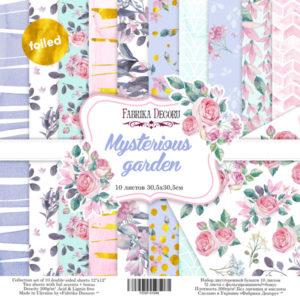 """Набор бумаги """"Mysterious garden"""", 30,5x30,5 см"""