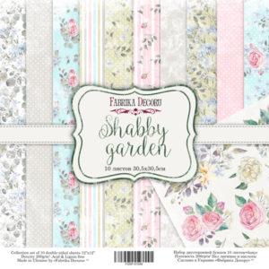 """Набор бумаги """"Shabby garden"""", 30,5x30,5см"""