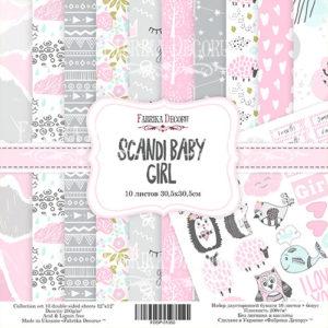 "Набор бумаги ""Scandi Baby Girl"", 30,5x30,5 см"