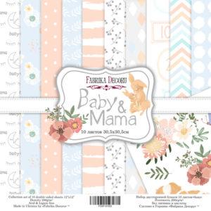 """Набор бумаги """"Baby&Mama"""", 30,5x30,5 см"""