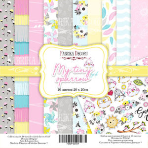 "FDSP-02047 Набор бумаги ""My tiny sparrow girl"", 20x20 см"