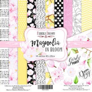 "Набор бумаги ""Magnolia in bloom"", 20x20см"