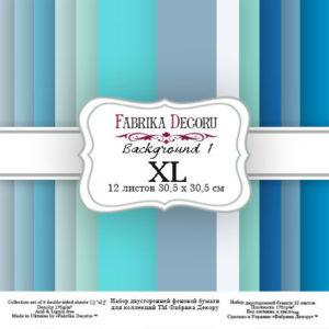 """Набор бумаги """"Backgrounds 1 XL"""", 30,5x30,5 см"""