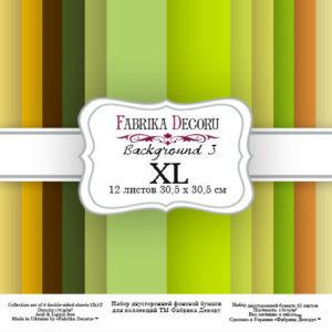 """Набор бумаги """"Backgrounds 3 XL"""", 30,5 x30,5 см"""