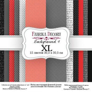 """Набор бумаги """"Backgrounds 4 XL"""", 30x30 см"""