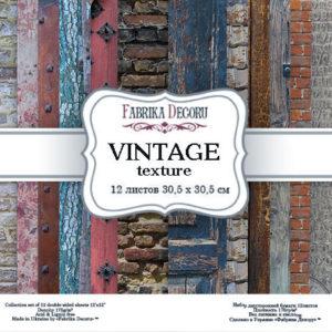 "Набор бумаги ""Vintage texture"",30,5 x30,5 см"