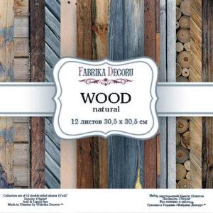 """Набор бумаги """"Wood natural"""", 30,5 x30,5 см"""