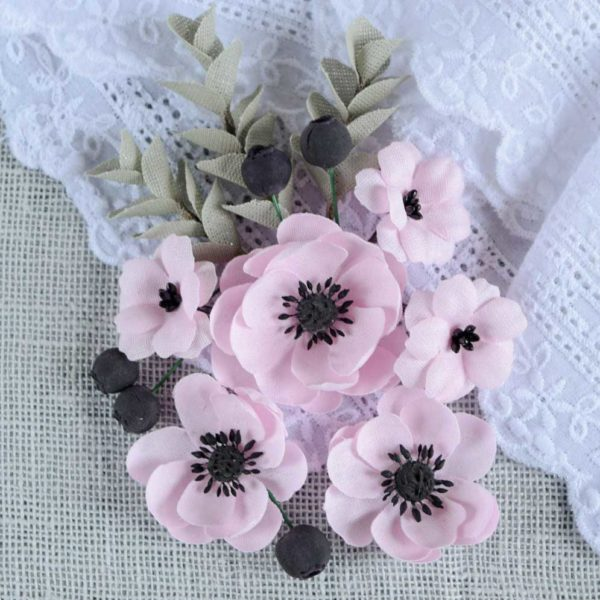 АР0001 наборов цветов из ткани Pastel Flowers