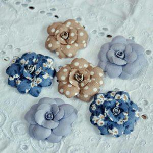 ББС0001 наборов цветов из ткани Pastel Flowers