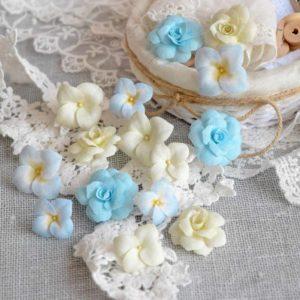 ГРГ0001 наборов цветов из ткани Pastel Flowers