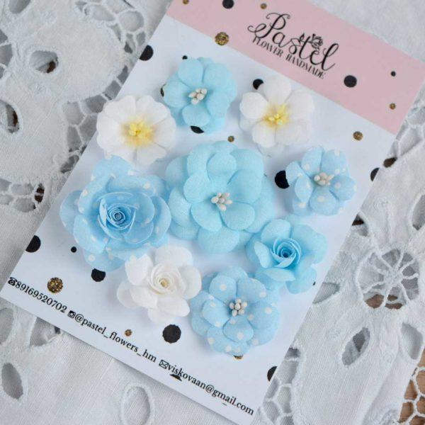 ДГ0001 наборов цветов из ткани Pastel Flowers