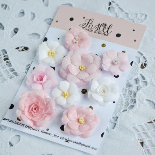ДР0001 наборов цветов из ткани Pastel Flowers