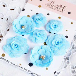 МГ0001 наборов цветов из ткани Pastel Flowers