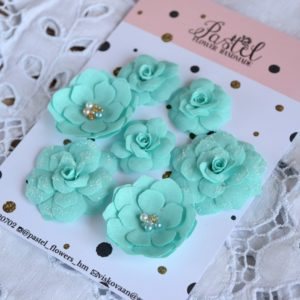 ММ0001 наборов цветов из ткани Pastel Flowers
