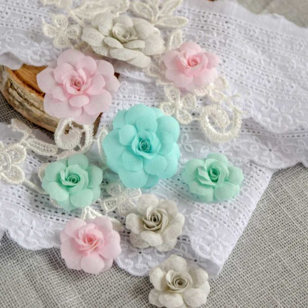 МРМ0001 наборов цветов из ткани Pastel Flowers