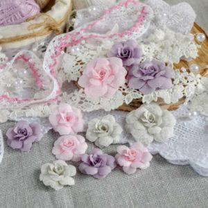 МРС0001 наборов цветов из ткани Pastel Flowers
