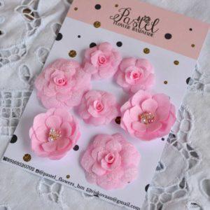 МР0001 наборов цветов из ткани Pastel Flowers