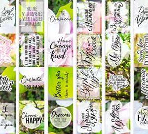 """Набор полос с картинками для декорирования """"Magnolia in bloom"""""""