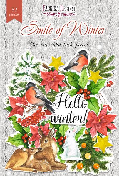 """Набор высечек, коллекция """"Smile of winter"""", 52шт"""