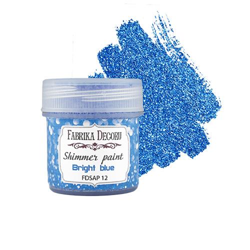 """FDSAP-12 Краска с глиттером """"Shimmer paint"""", цвет Ярко-синий"""