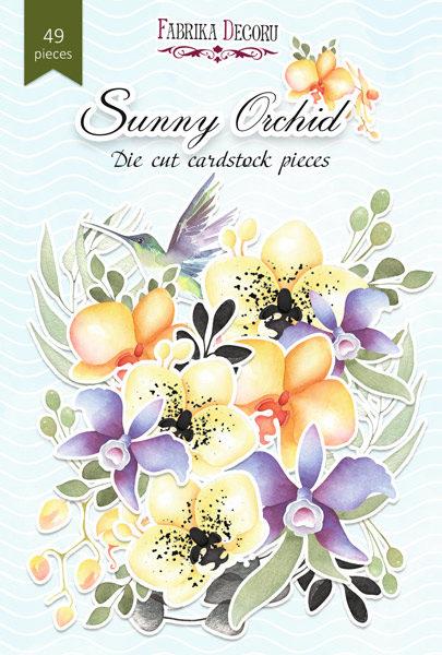 """Набор высечек, коллекция """"Sunny Orchid"""",49 шт"""