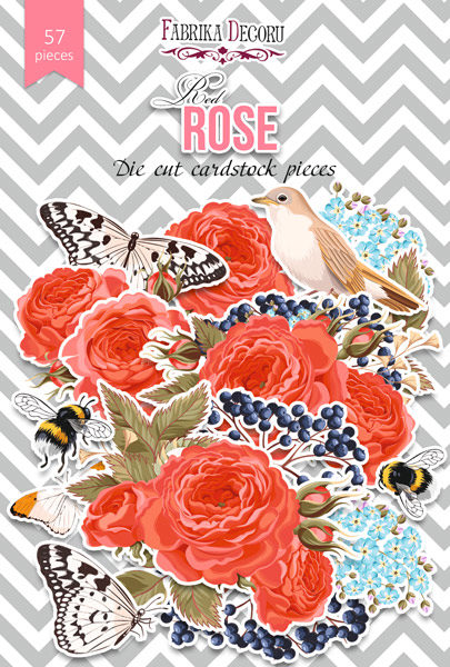 """Набор высечек, коллекция """"Red Rose"""",57 шт"""