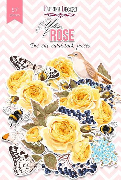 """Набор высечек, коллекция """"Yellow Rose"""",57 шт"""
