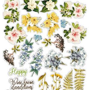 """FDSTK-011 Набор наклеек (стикеров) #011, """"Botany summer"""""""