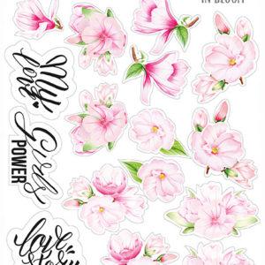 """Набор наклеек (стикеров) #035, """"Magnolia in bloom"""""""