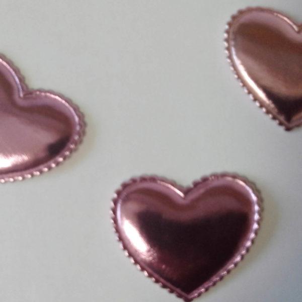 Сердце кожзам розовое