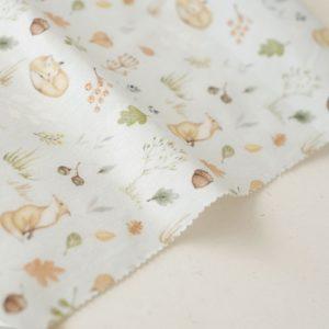 "Отрез ткани ""Forest story - Лисы в осеннем лесу"" 40х50 см"