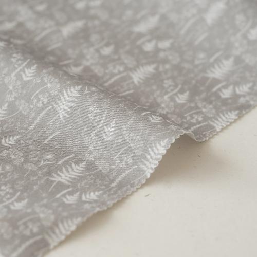"Отрез ткани ""Forest story - Травы на сером"" 40х50 см"