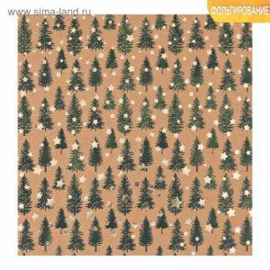Лист крафтовый с фольгированием «Сказочный лес», 20 × 20 см